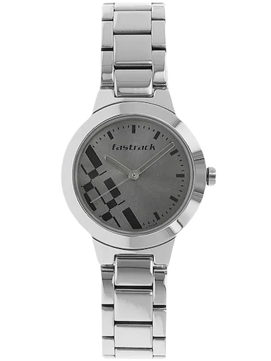Fastrack Analog Grey Dial Girls Watches-NM6150SM01
