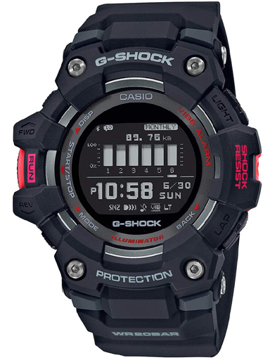 G1040 GBD-100-1DR Casio G-Shock G-Squad Athleisure Series Men's Smartwatch-G1040