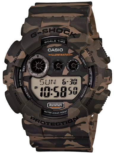 G513 GD-120CM-5DR Camouflage Men's Watch-G513