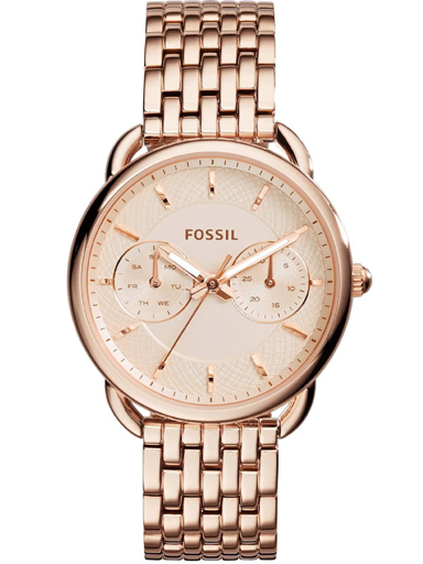 Fossil Tailor Multifunction Rose-Tone Stainless Steel Watch-ES3713