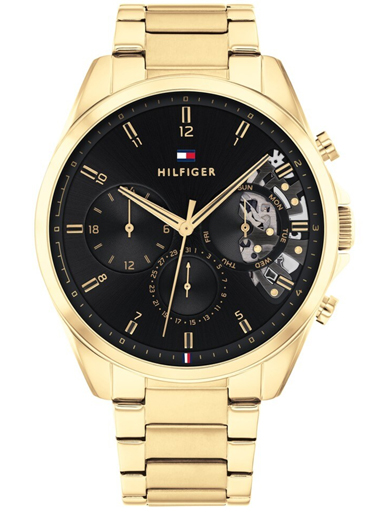 tommy hilfiger black dial multifunction watch for men-TH1710447W