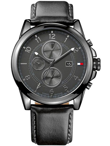 Tommy Hilfiger Black Dial Chronograph Watch for Men-TH1710295W