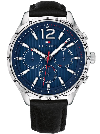 tommy hilfiger blue dial multifunction watch for men-TH1791468W
