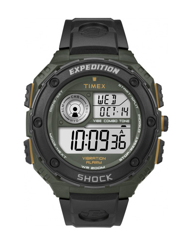 Timex Mens Black Expedition Vibe Shock Chronograph Watch-T49982