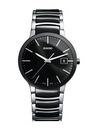 Rado Centrix Black Dial Steel Quartz Men Watch-R30934162