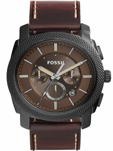 Fossil Chronograph Brown Dial Mens Watch-FS5121I