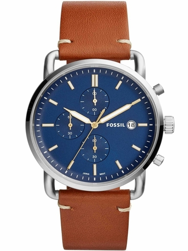 fossil commuter blue dial mens watch-FS5401I