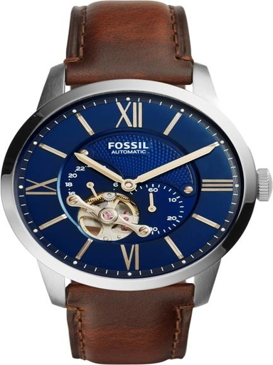 Fossil Townsman Automatic Blue Dial Steel Watch-ME3110