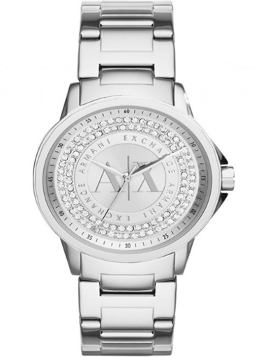 a/x julietta silver dial stainless steel ladies watch-AX4320