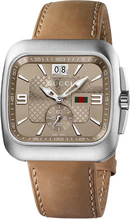 Gucci Coupe Quartz Brown Mens Watch-YA131312