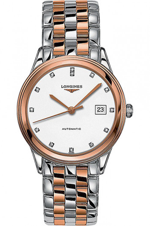 longines flagship automatic white dial 38.5 mm men watch-L4.874.3.99.7