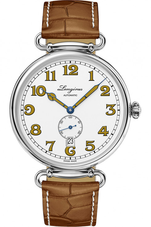 longines heritage 1918 automatic white dial men's watch-L2.809.4.23.2