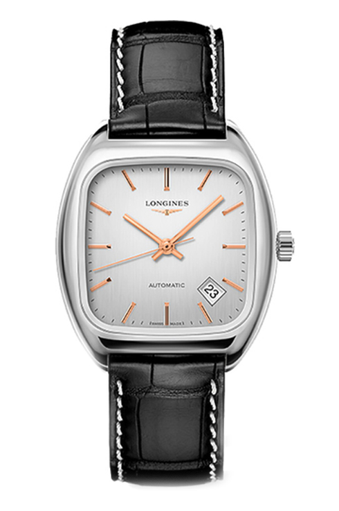 longines heritage silver dial leather men watch-L2.310.4.72.3
