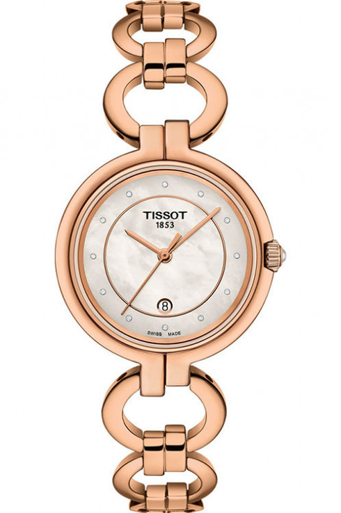Tissot T-Lady Flamingo White MOP Dial Women's Watch-T0942103311601