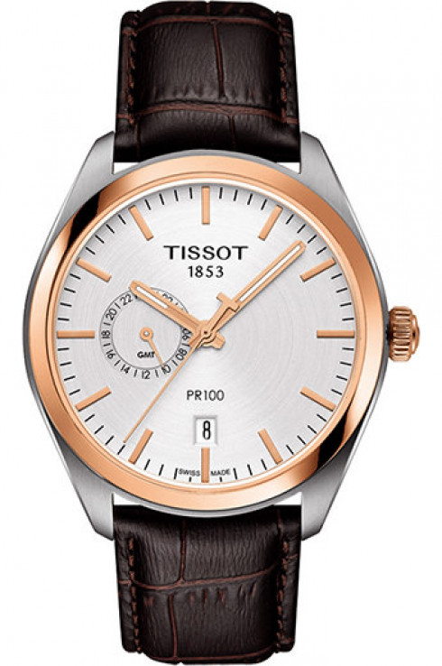 Tissot PR 100 Silver Dial Quartz Men's Watch-T1014522603100