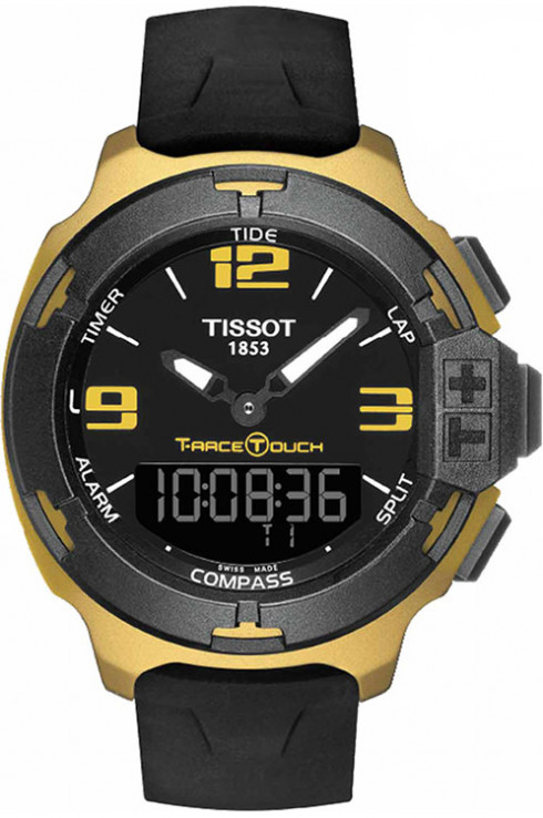 Tissot T-Race Touch Aluminium Black Dial Men's Sports Quartz Watch T0814209705706-T0814209705706