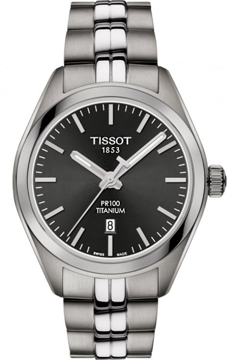 Tissot T-Classic PR 100 Titanium Quartz Women's Watch-T1012104406100
