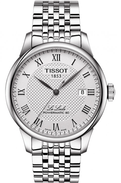 Tissot Le Locle Powermatic 80 Automatic Silver Dial Men's Watch-T0064071103300