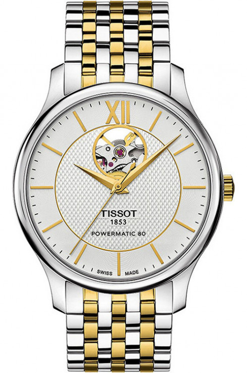Tissot Tradition Powermatic 80 Open Heart Men's Watch-T0639072203800