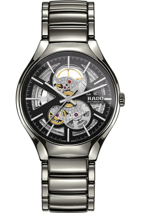 Rado True Automatic Black/Skeleton Dial Men's Watch-R27510152