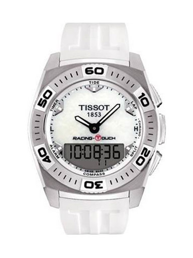 Tissot Racing T-Touch White Rubber Men's Watch-T0025201711100
