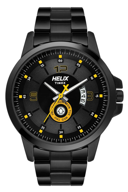 timex helix black dial men watch tw023hg20-TW023HG20