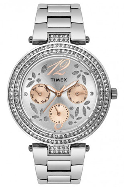 Timex Analog Brown Dial Watch For Women's-TWEL12001
