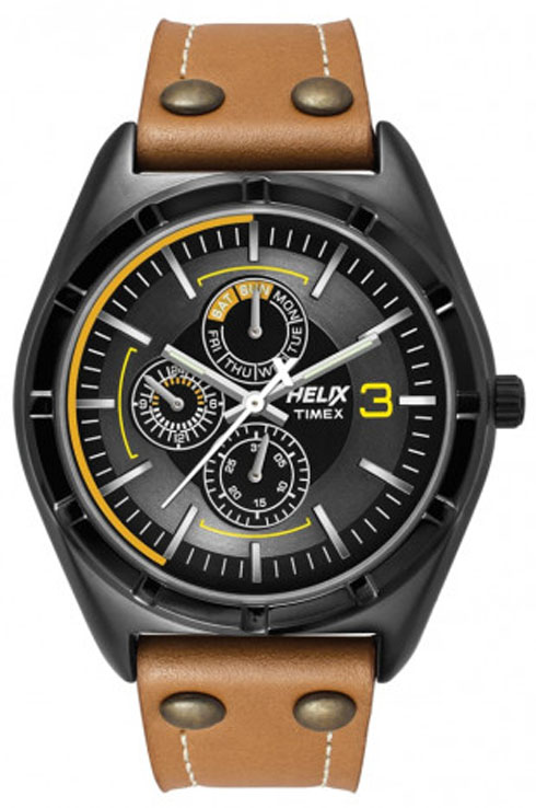 Timex Helix Mens Analogue Leather Watch-TW029HG13