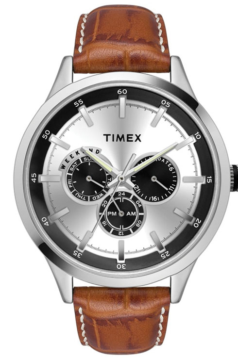 timex fashion silver dial men watch tw000t308-TW000T308
