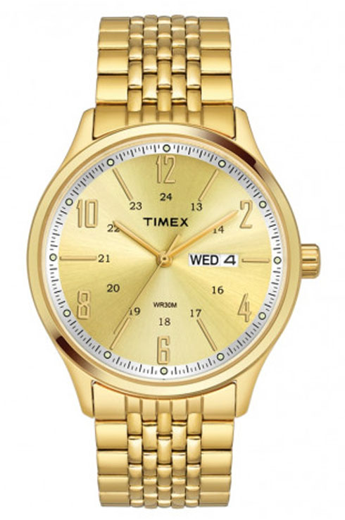 timex tw0tg6503 champagne dial men's watch-TW0TG6503