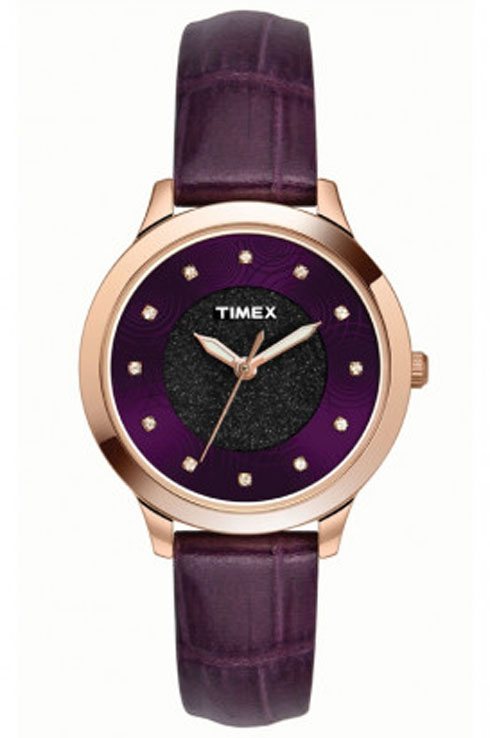 timex tw000t616 purple dial women's watch-TW000T616