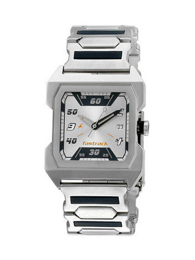 Fastrack Silver Steel Analog Watch-NE1474Sm01