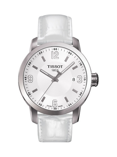 Tissot Couturier White Dial Leather Strap Women's Watch-T0352101601100