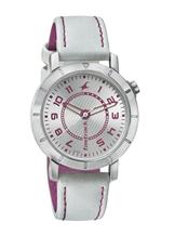 Fastrack Analog Silver Dial Leather Women Watch -6112SL01