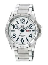 Q&Q Standard Analog White Dial Watch For Men-A150J204Y