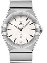 Omega Constellation Manhattan Quartz White Dial Watch-O13110286002001