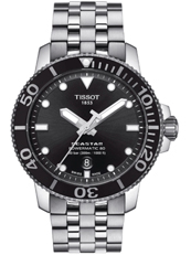 Tissot T-Sport Seastar 1000 Powermatic 80 Stainless Steel Automatic Men's Watch-T1204071105100