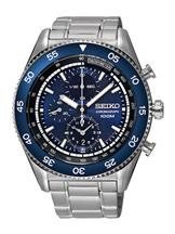 Seiko Men's Silver Color Chronograph Watch-SNDG55P1