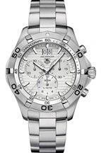 TAG Heuer Men's Aquaracer Quartz Silver Chronograph Dial Watch-CAF101F.BA0821