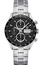 Tag Heuer Carrera Automatic Chronograph Black Dial Stainless Steel Men's Watch-CV201AG.BA0725
