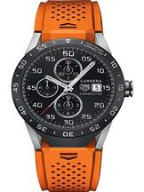 Tag Heuer Connected Orange Rubber Strap Watch-SAR8A80.FT6061