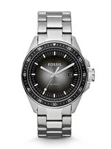 fossil men's stainless steel analog with black dial watch-CH2601IE