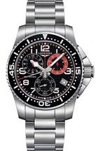 Longines HydroConquest Chronograph Black Dial Stainless Steel Men's Watch-L36904536