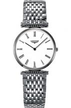 Longines Grande White Dial Stainless Steel Men's Watch-L45124116