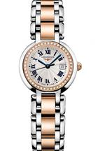 Longines PrimaLuna Two-Tone  Rose Gold & Steel Diamond Womens Watch-L81105796