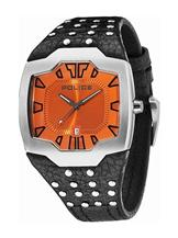 Police Analog Orange Dial Men's Watch-PL13634JS17J