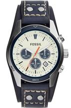 Fossil Coachman Chronograph Blue Leather Watch-CH3051I