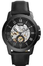 Fossil Grant Black Skeleton Dial Automatic Men's Watch-ME3096