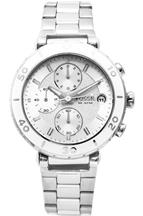 Fossil Women's  Allie Chronograph Stainless Steel White Dial Watch-CH2580