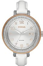 fossil bridgette leather white watch-CH2601IE